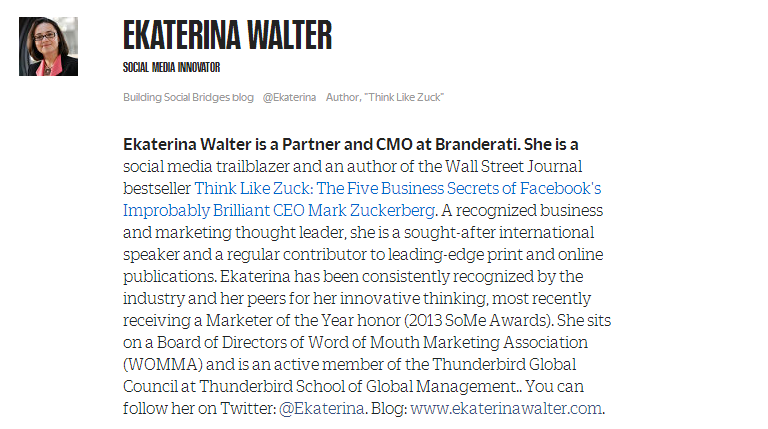 Ekaterina Walter Quality Guest Blogging