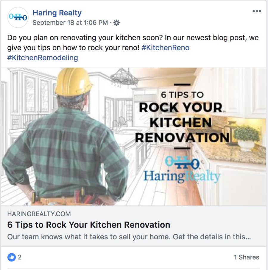 DIY Post Real Estate Facebook